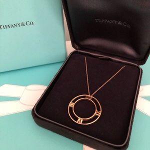 Tiffany & Co Atlas 18 K Rose Gold Necklace